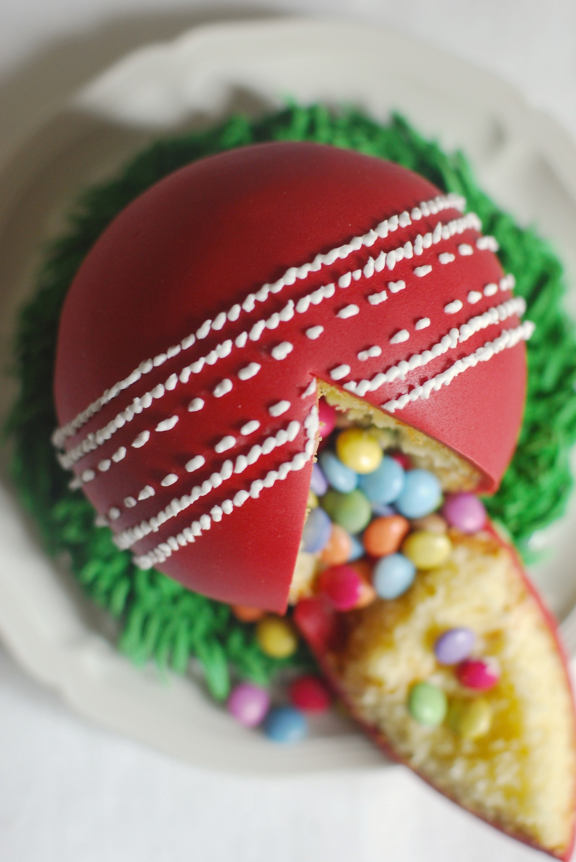 Cricket Ball Cake Images : Cricket Cake - Afternoon Crumbs