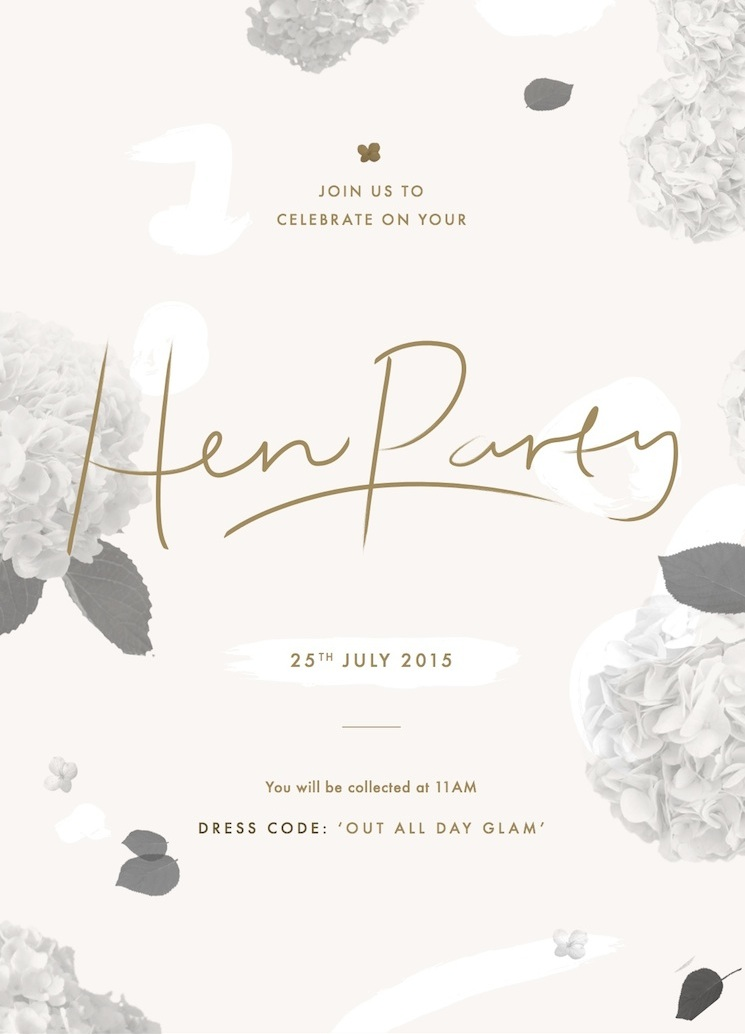 hen do invite blog